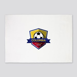 Creative soccer Colombia label 5'x7'Area Rug