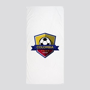 Creative soccer Colombia label Beach Towel