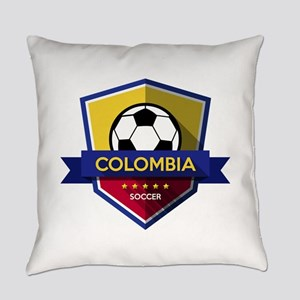 Creative soccer Colombia label Everyday Pillow