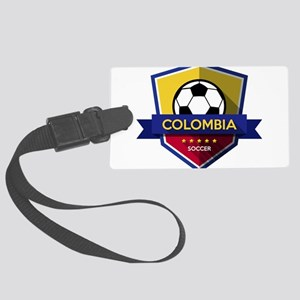 Creative soccer Colombia label Large Luggage Tag