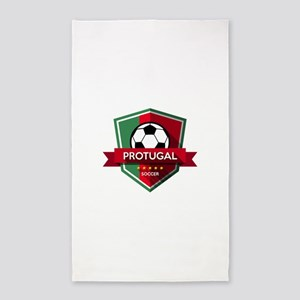 Creative soccer Portugal label Area Rug