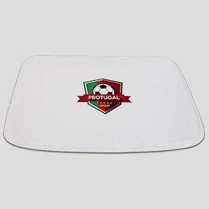 Creative soccer Portugal label Bathmat