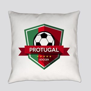 Creative soccer Portugal label Everyday Pillow
