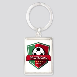 Creative soccer Portugal label Keychains