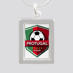 Creative soccer Portugal label Necklaces
