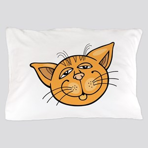 Happy cat face head art Pillow Case