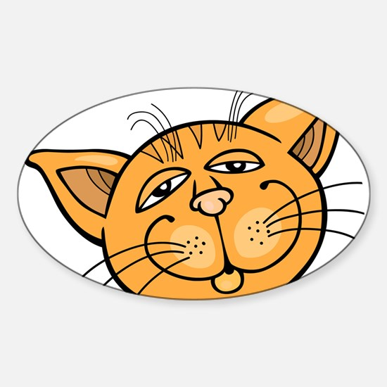 Happy cat face head art Decal