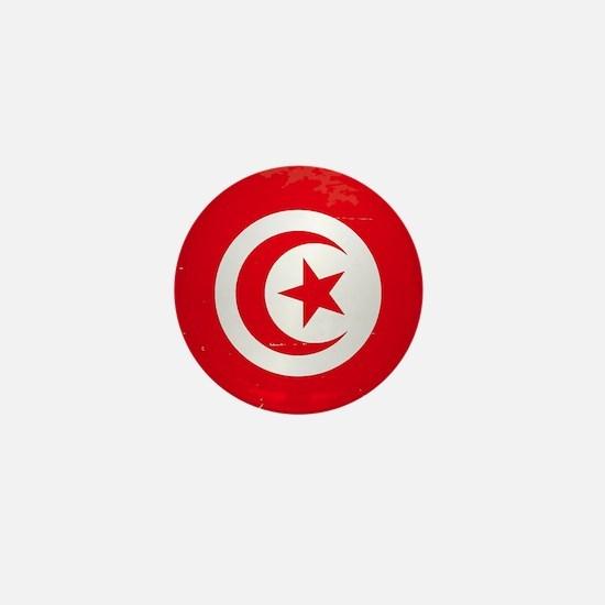 Tunisia Grunge Flag Mini Button