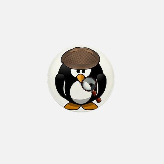 Detective Penguin Sherlock Mini Button