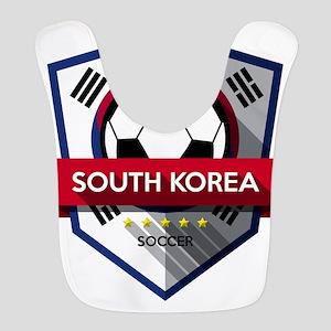 Creative soccer South Korea label Bib