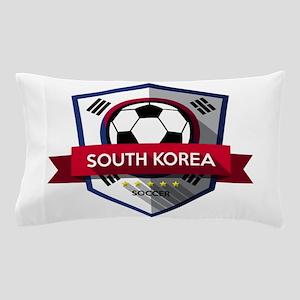Creative soccer South Korea label Pillow Case