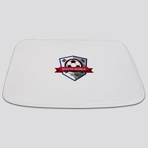 Creative soccer South Korea label Bathmat