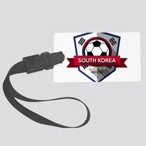 Creative soccer South Korea labe Large Luggage Tag