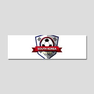 Creative soccer South Korea labe Car Magnet 10 x 3
