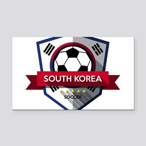 Creative soccer South Korea l Rectangle Car Magnet