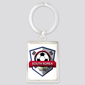 Creative soccer South Korea label Keychains