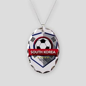 Creative soccer South Korea la Necklace Oval Charm