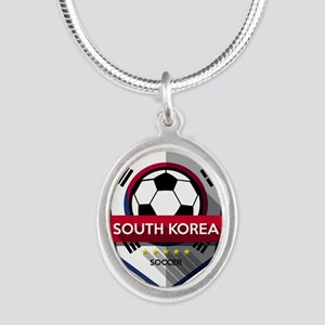 Creative soccer South Korea label Necklaces