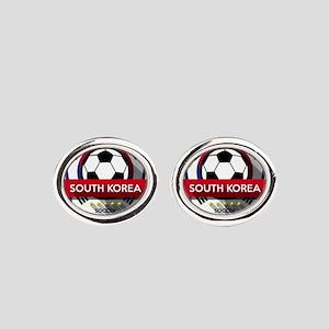 Creative soccer South Korea label Oval Cufflinks