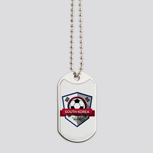Creative soccer South Korea label Dog Tags
