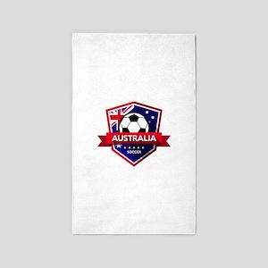 Creative soccer Australia label Area Rug