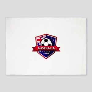 Creative soccer Australia label 5'x7'Area Rug
