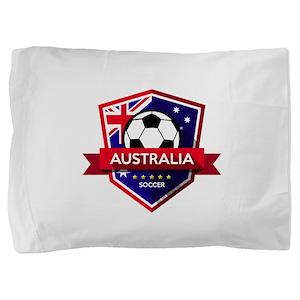 Creative soccer Australia label Pillow Sham