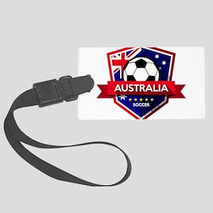 Creative soccer Australia label Large Luggage Tag