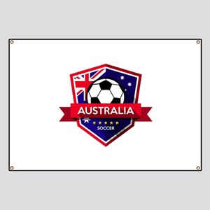 Creative soccer Australia label Banner