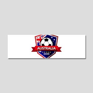 Creative soccer Australia label Car Magnet 10 x 3