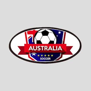 Creative soccer Australia label Patch