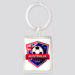 Creative soccer Australia label Keychains