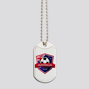 Creative soccer Australia label Dog Tags