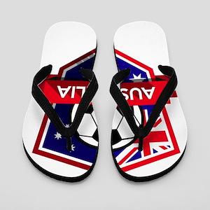 Creative soccer Australia label Flip Flops