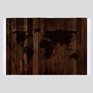 The World Map In Wood 4' x 6' Rug