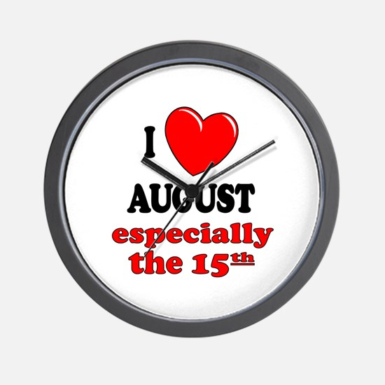 August 15th Wall Clock