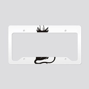 Cat looking back License Plate Holder