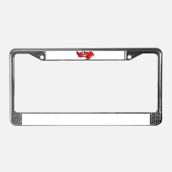 Red Cartoon Crab License Plate Frame