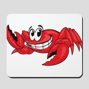 Red Cartoon Crab Mousepad