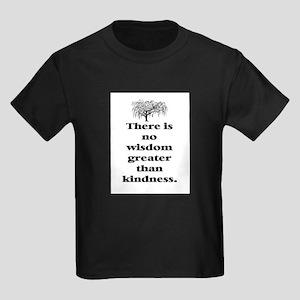 WISDOM GREATER THAN KINDNESS (TREE) Kids Dark T-Sh