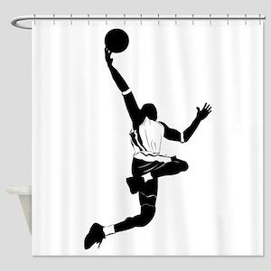 Basketball design elements Shower Curtain