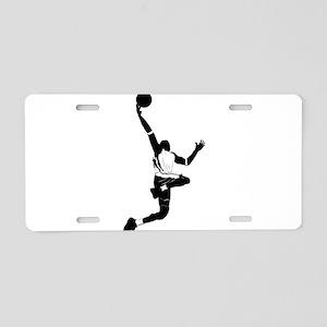 Basketball design elements Aluminum License Plate