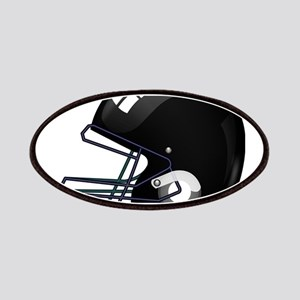 American black football gridiron helmet Patch