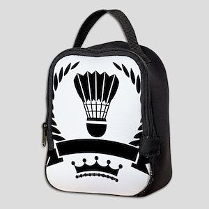 Vintage style badminton logo Neoprene Lunch Bag