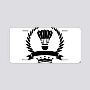 Vintage style badminton log Aluminum License Plate