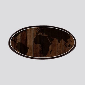 The World Map In Wood Patch
