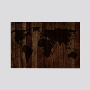The World Map In Wood Magnets