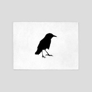 Sparrow silhouette art 5'x7'Area Rug