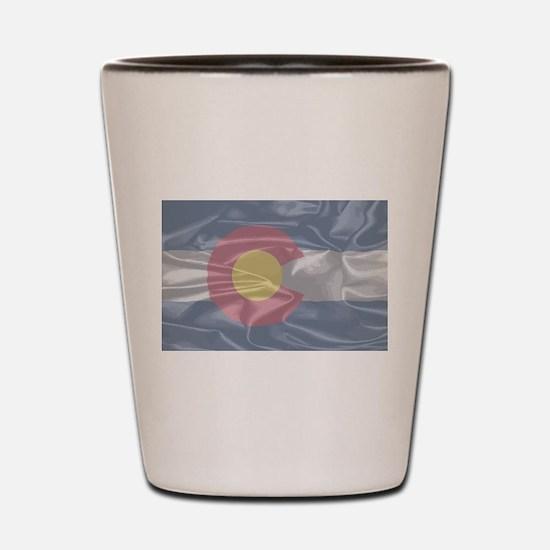 Colorado State Silk Flag Shot Glass