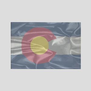 Colorado State Silk Flag Magnets